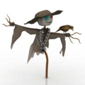 Scarecrow Free 3dmax Model