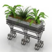 Home Decoration Potted Free 3dmax Model