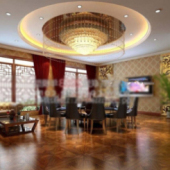 Hotel Restaurant Free 3dmax Model