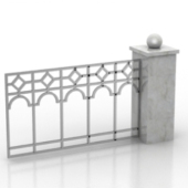 Courtyard Wall Free 3dmax Model