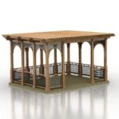 Ancient Pavilion Free 3dmax Model