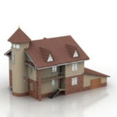 Free 3dmax Model Of Classic European Villas