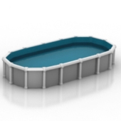Simple Free 3dmax Model Of Private Swimming Pools
