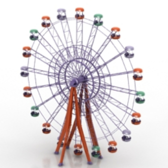 Game Ferris Wheel Free 3dmax Model