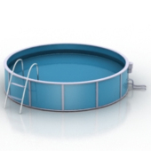 Round Pool 3dmax Model