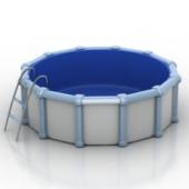 Round Pool Free 3dmax Model