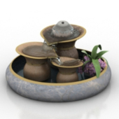 Artificial Fountain Decoration Free 3dmax Model