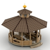 Simple Free 3dmax Model Of Atmospheric Gazebo