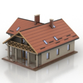 Ordinary Small Villa Free 3dmax Model