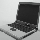 White Laptop Free 3dmax Model