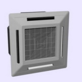 Square Ceiling Air Conditioning Free 3dmax Model