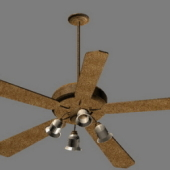 Electric Fans With Light Free 3D Model
