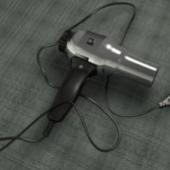 Inox Hair Dryer Free 3dmax Model