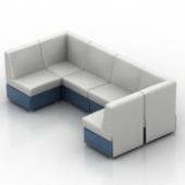 White Sofa Fashion Free 3dmax Model People