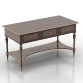 Classical Desk Free 3dmax Model