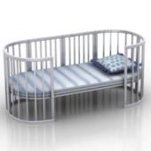 Crib Bed Free 3dmax Model