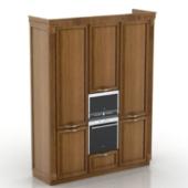 Wooden Wardrobe Free 3dmax Model