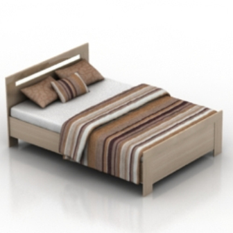 Simple King Bed Free 3dmax Model Free Download - No1462 Zip