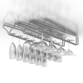 Metal Goblet Shelf Free 3dmax Model