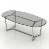 Oval Glass Coffee Table Free 3dMax Model