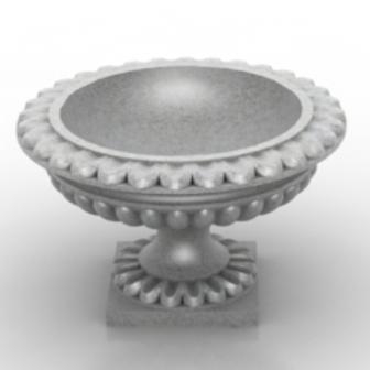 White Porcelain Flower Pot