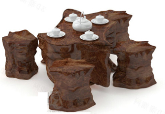 Nature Wooden Table Free 3dmax Model