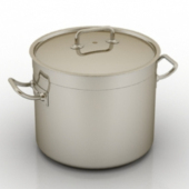 Kitchen Stockpot Free 3dmax Model