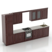 Modern Kitchen Cabinet Free 3dmax Model