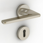 Metal Door Handles Free 3D Max Model