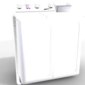 Washing Machine Free 3dmax Model-3