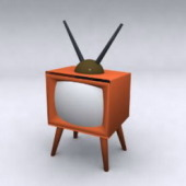 Old Style Television Free 3dmax Model