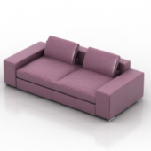 Luxurious Pink Sofa Free 3dmax Model