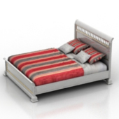 Red Double Bed Free 3dmax Model