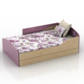 Purple Bed Free 3dmax Model