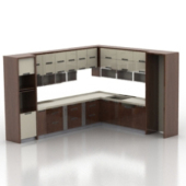 European Whole Kitchen Cabinet Free 3dmax Model