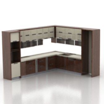 european whole kitchen cabinet free 3dmax model free download