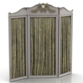 European Classical Screen Free 3dMax Model