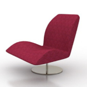 Red Armchair Modern Style