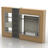 Multimedia Wall Composition Cabinet