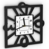 Decoration Framing Clock Free 3dmax Model