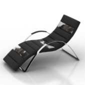 Metal Leather Lounge Chair