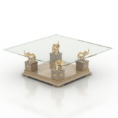 Noble Glass Coffee Table Free 3dmax Model