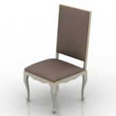 European Antique Single Chair Free 3dMax Model