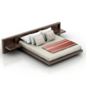 Group Wood Bed Double 3dmax Free 3dmax Model