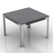 Black Square Table Free 3dmax Model