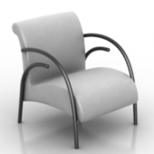 Living Room Armchair Free 3dmax Model