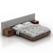 Classic Double Bed Free 3dmax Model