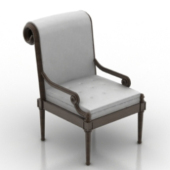 Single Classic Armchair Free 3dMax Model