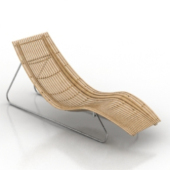 Wooden Wicker Chair Free 3dMax Model