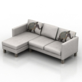 L Sofa Free 3dmax Model